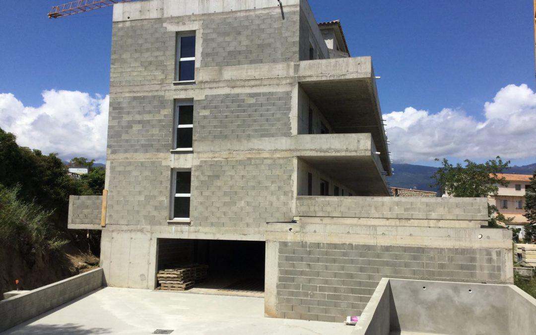"""Résidence """"La Boétie"""" à Porto-Vecchio ! un aperçu de l'avancement du chantier !"""