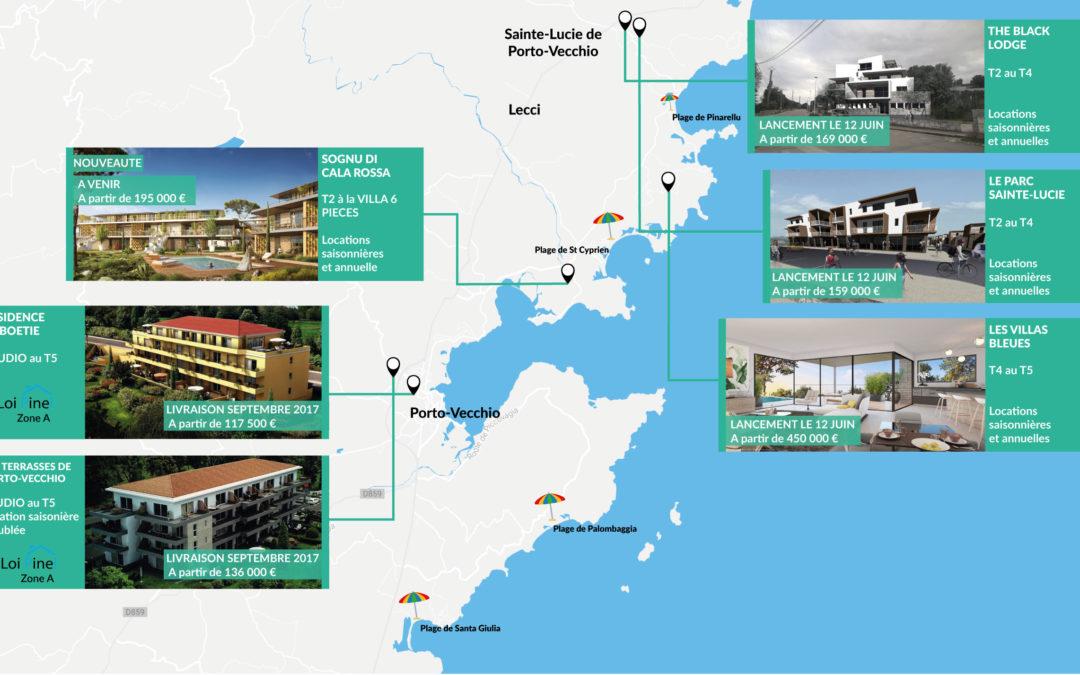 Habiter ou investir à Porto-Vecchio, découvrez toutes nos opportunités.